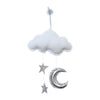 wall cloud mobile (white silver stars, silver moon) - ONLY 1 LEFT!