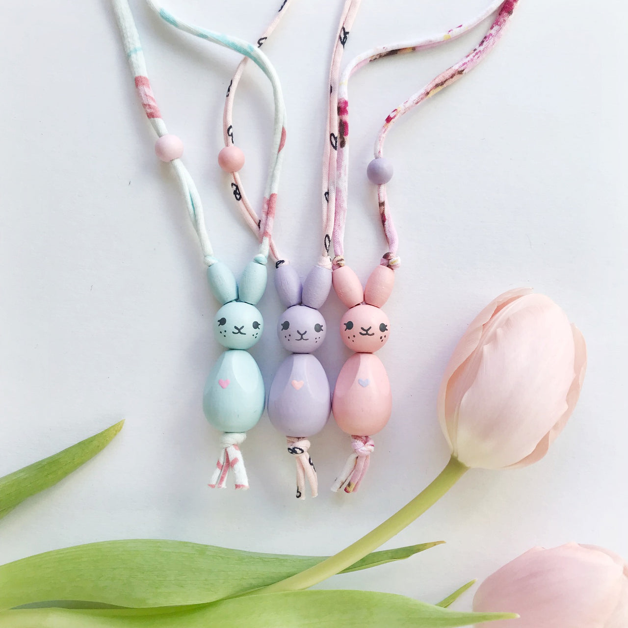 spring bunny necklace