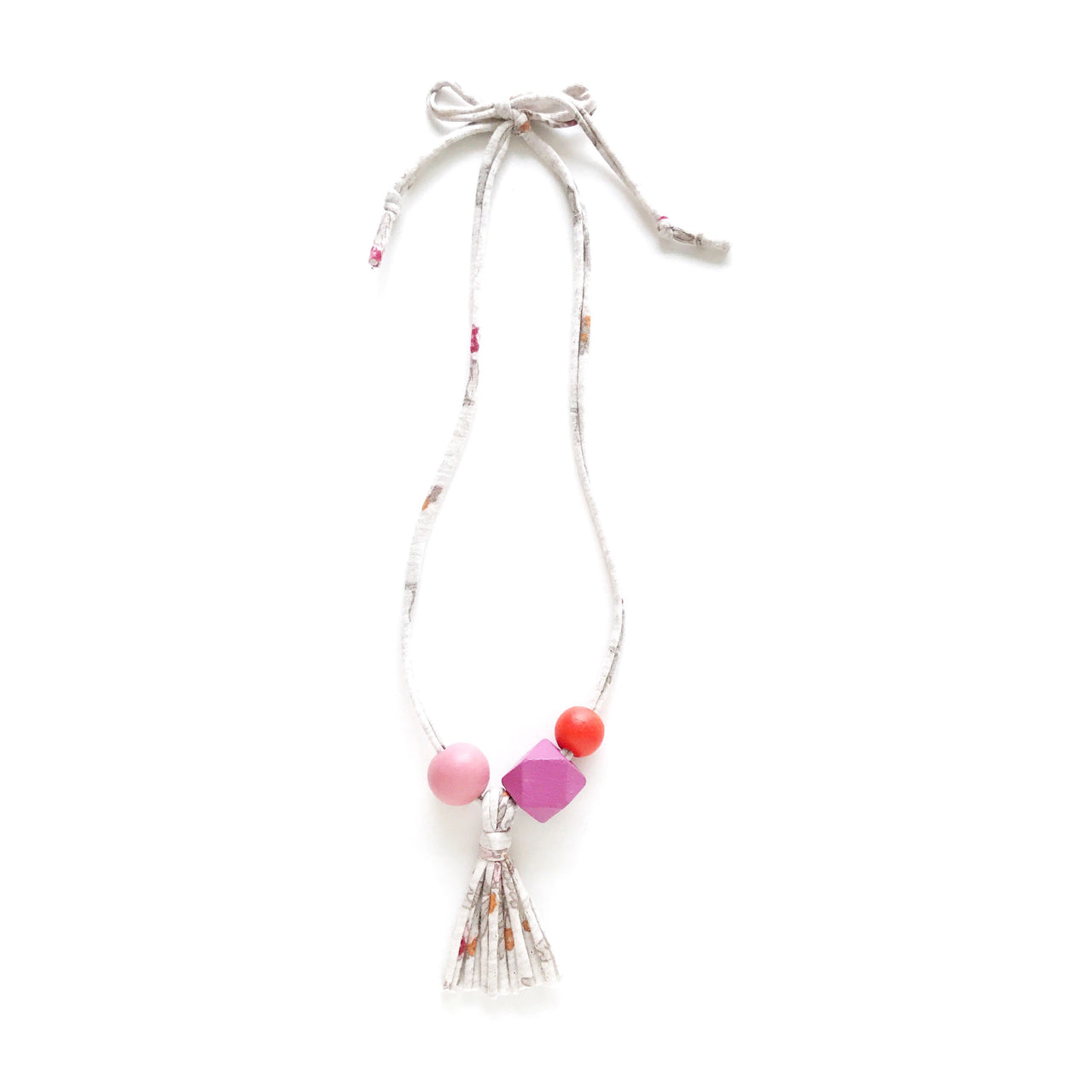 poppy cloud tassel necklace