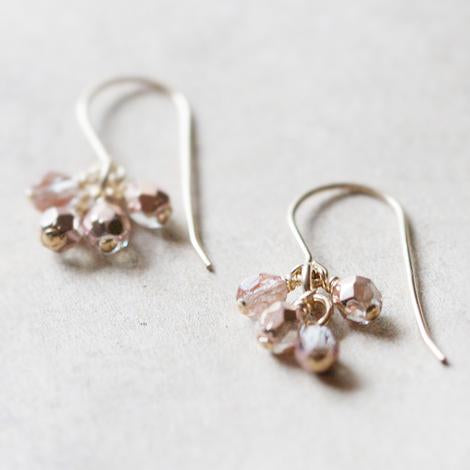 lucky earrings (pink)