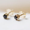 nova earrings (black spinel)