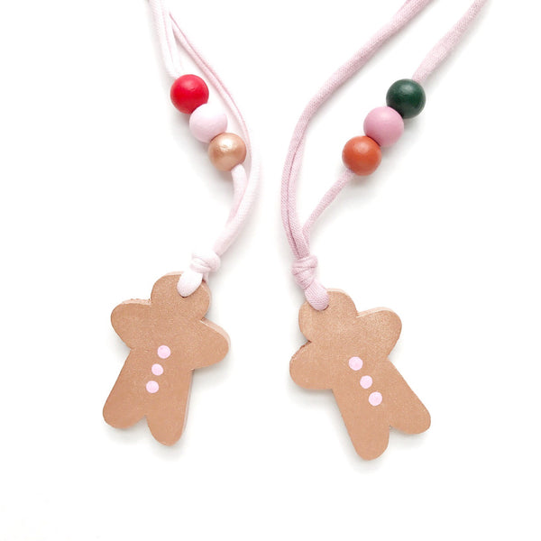 gingerbread kid necklace