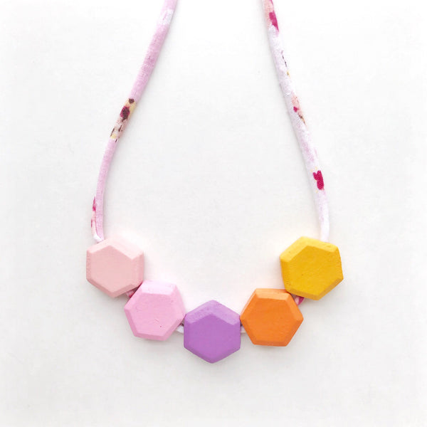 sharon honeycomb necklace