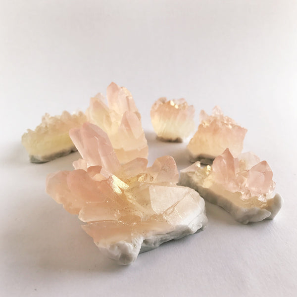 crystal soap - rose quartz