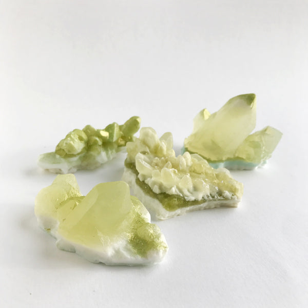 crystal soap - peridot