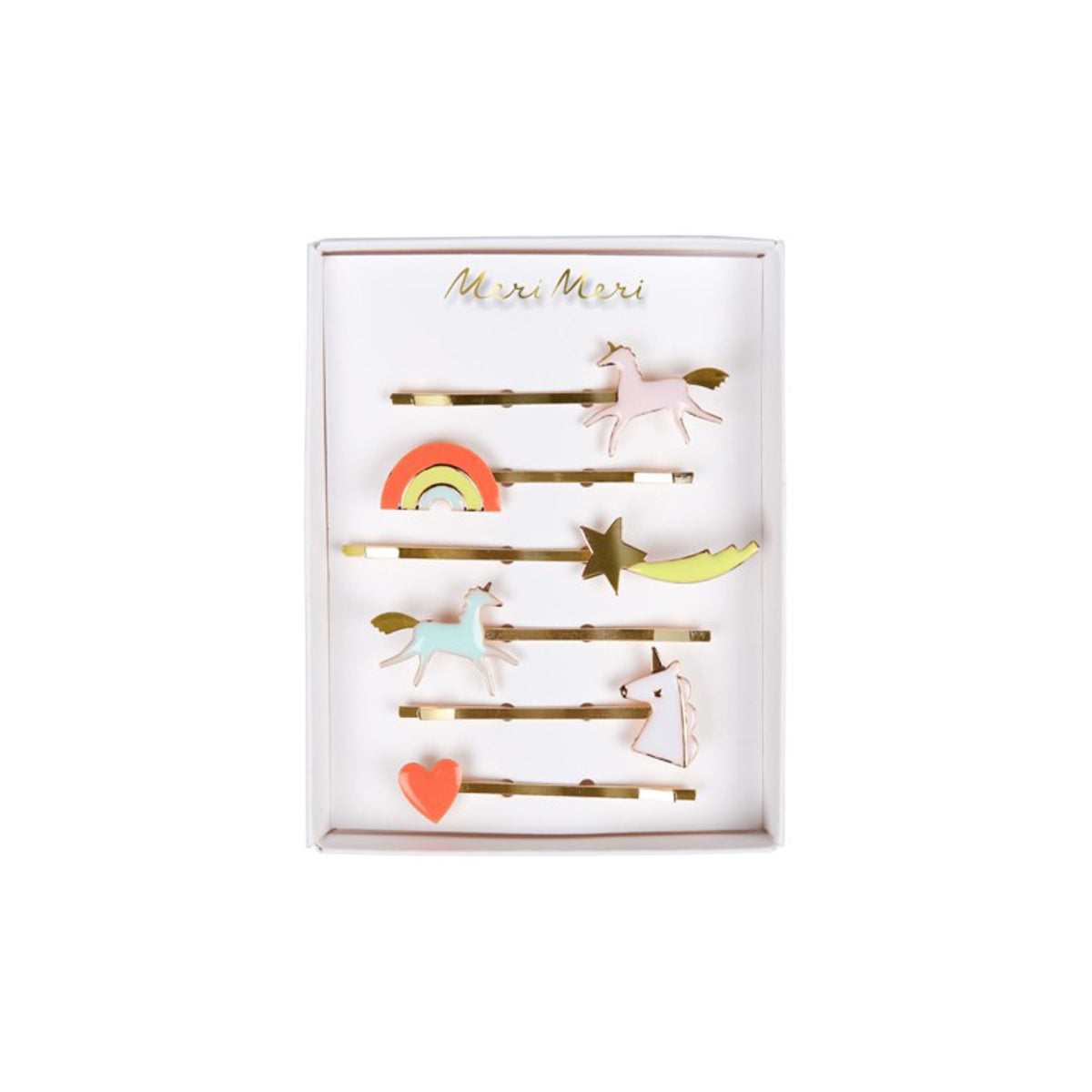 unicorn enamel hair slides