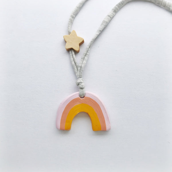 saffron rainbow necklace