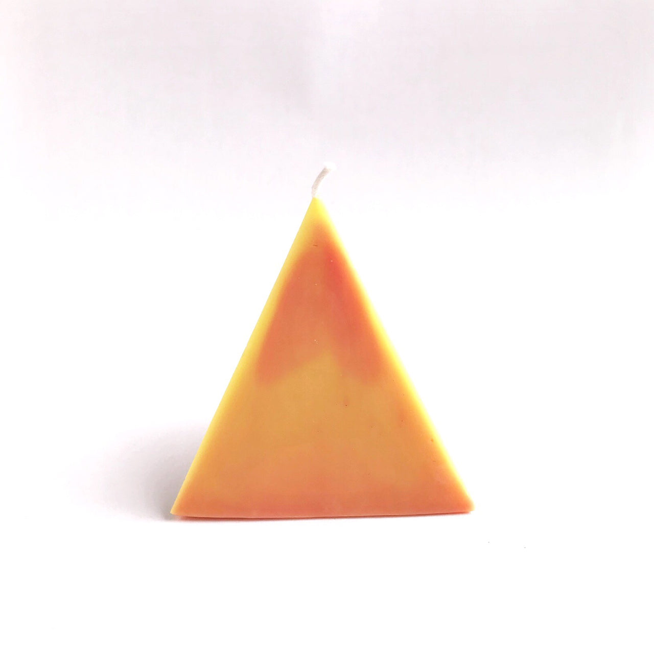 pyramid treasure candle (orange swirl)