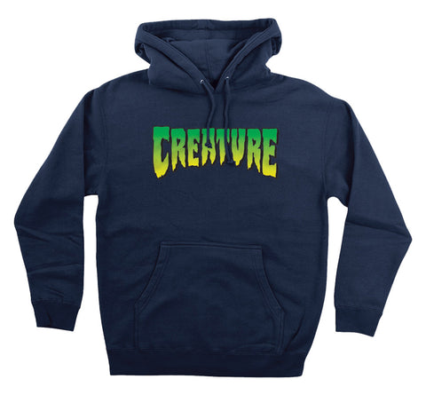 CREATURE / LOGO P/O NAVY HOODIE - This Store