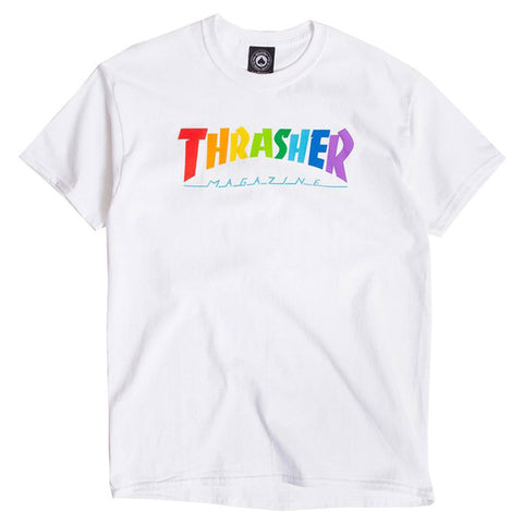 THRASHER MAGZINE / RAINBOW MAG WHITE - This Store