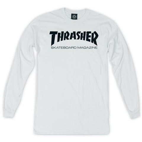 "Playera ""Thrasher Magazine"" longsleeve (white)"