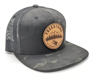 Freestone Leather Patch Snapback