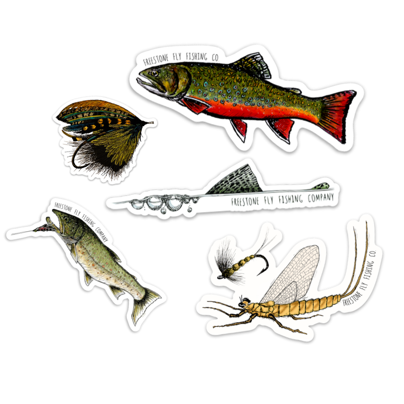 Fishy Sticker Pack - Freestone Fly Fishing Company