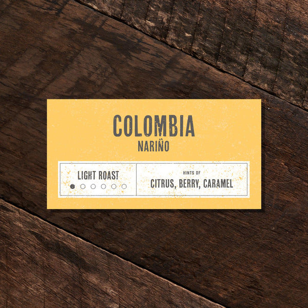 Colombia Nariño– Light Roast