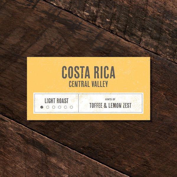 Costa Rica Central Valley – Light Roast