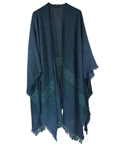 "Women's Ruana Wool 54"" x 72"" Made in Ireland"