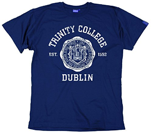 Trinity College Dublin Men's Collegiate Seal T-Shirt Navy