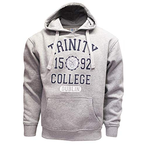 Grey Marl and Navy Trinity College Dublin Ireland 1592 Hooded Sweatshirt