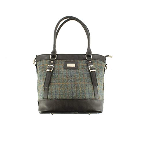 Mucros Weavers Tweed & PU Leather Handbag - Made In Ireland - Kelly Style
