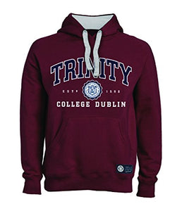 Trinity College Burgundy Hoodie Collegiate Seal