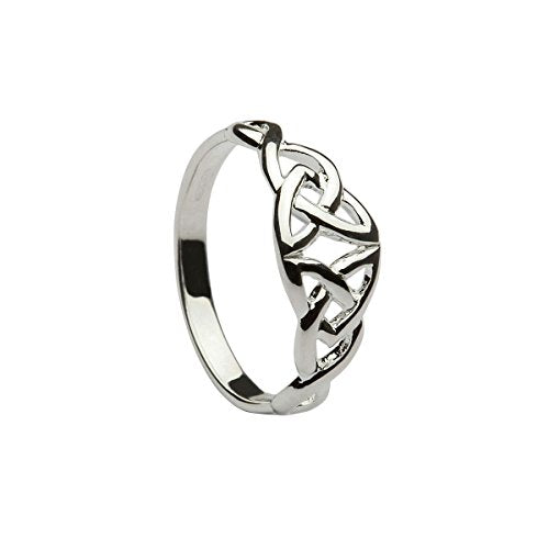 Celtic Designs Double Trinity Knot Ring