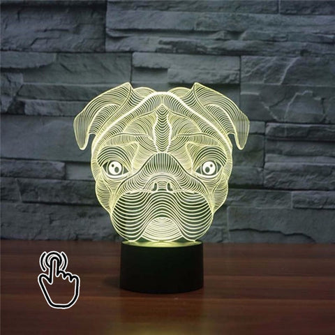 Cute Pug Hologram