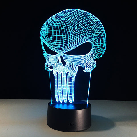 Punisher Skull Hologram