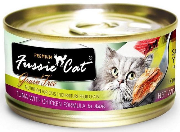 Fussie Cat Premium Tuna with Chicken Formula in Aspic Canned Food