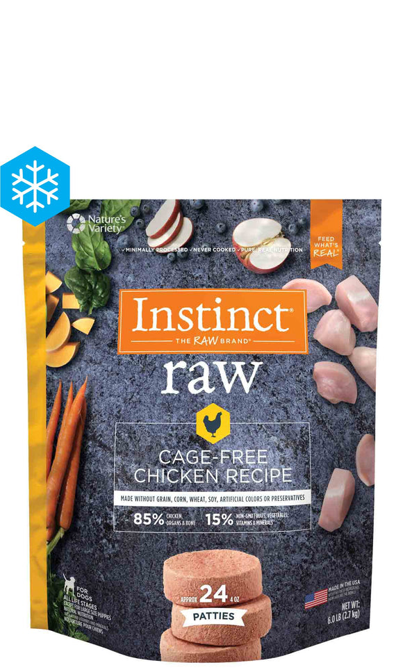 Instinct Raw Frozen Patties Cage-Free Chicken Recipe