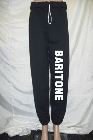 Baritone Black Fleece Pants