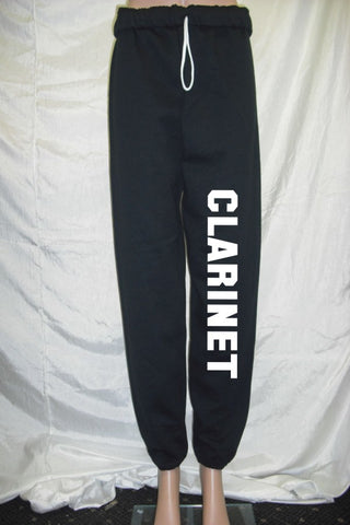 Clarinet Black Fleece Pants