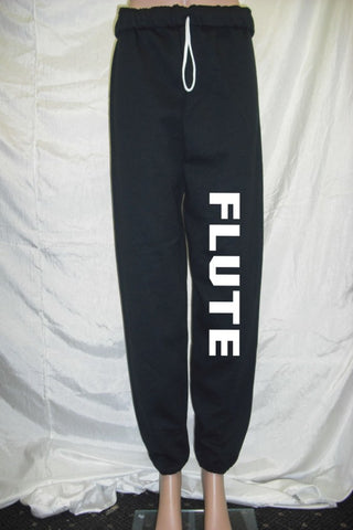 Flute Black Fleece Pants