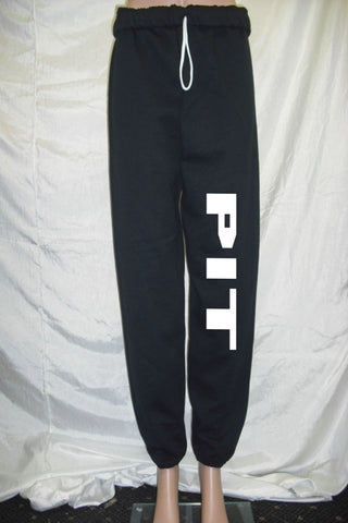 Pit Black Fleece Pants