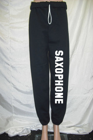 Saxophone Black Fleece Pants