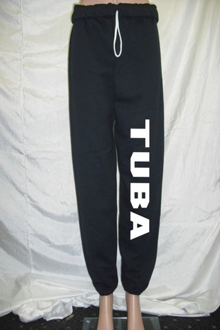 Tuba Black Fleece Pants