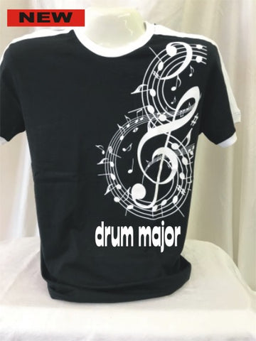 Drum Major B & W Large Treble Clef Tee