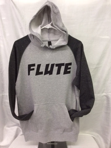 Flute Heather Grey/Heather Charcoal Hoodie