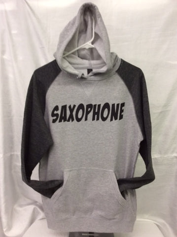 Saxophone Heather Grey/Heather Charcoal Hoodie