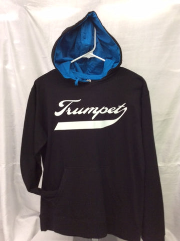 Trumpet Black & Turquoise Hooded Tee