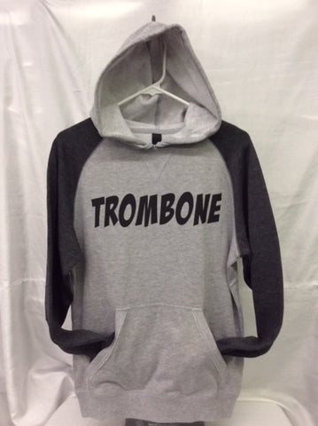 Trombone Heather Grey/Heather Charcoal Hoodie