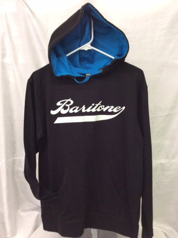 Baritone Black & Turquoise Hooded Tee