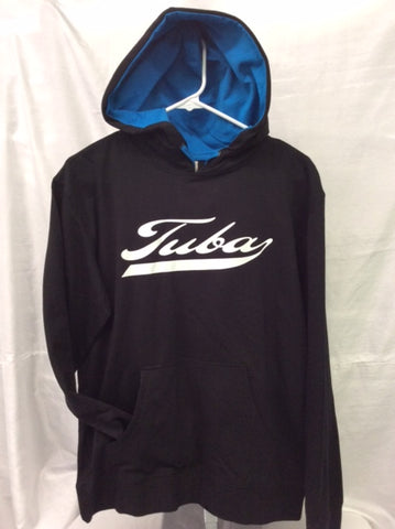 Tuba Black & Turquoise Hooded Tee