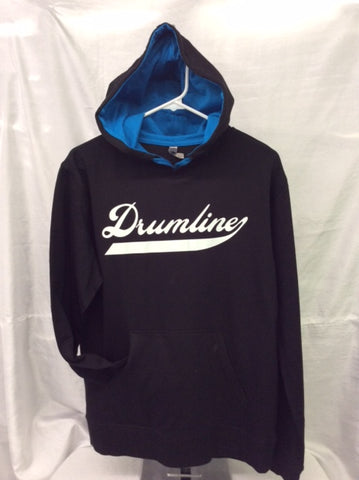 Drumline Black & Turquoise Hooded Tee