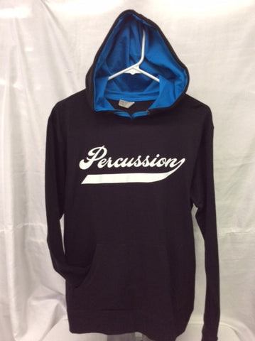 Percussion Black & Turquoise Hooded Tee