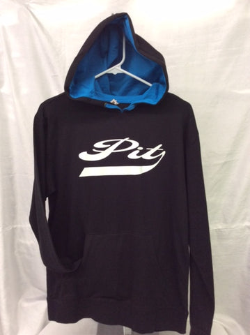 Pit Black & Turquoise Hooded Tee