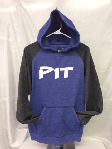 Pit Heather Royal/Heather Charcoal Hoodie