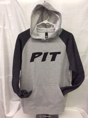 Pit Heather Grey/Heather Charcoal Hoodie
