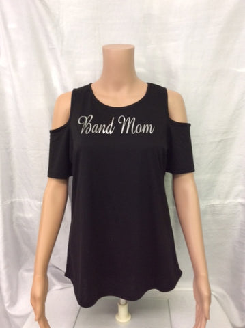 Band Mom Cold Shoulder Tee