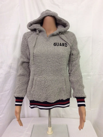 Guard Grey Hooded Sherpa