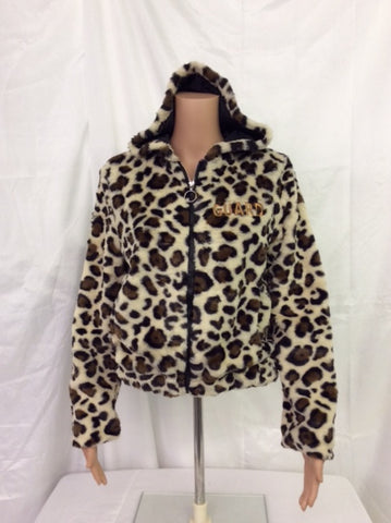 Guard Leopard Faux Fur Zip Jacket